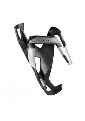 ELITE BOTTLE CAGE CUSTOM RACE PLUS MAT BLACK WHITE