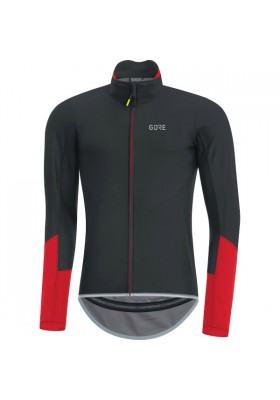 GORE JERSEY WINDSTOPPER C5 BLACK-RED