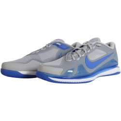 NIKE AIR ZOOM VAPOR PRO CLAY COURT SHOES GRAY BLUE