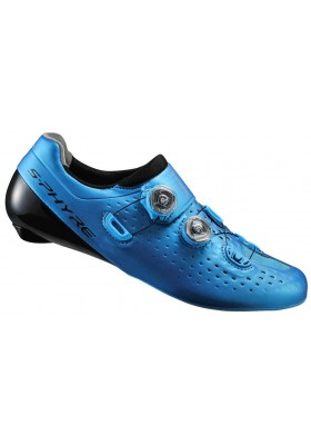 SHIMANO SHOES RC9B S-PHYRE SPD-SL ROAD BLUE