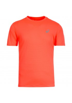 ASICS SILVER SS TOP T-SHIRT WHITE/RED