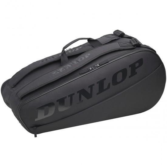 DUNLOP CX CLUB 6 RACKET BAG BLACK/BLACK (NEW)
