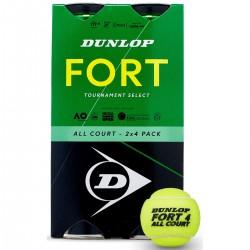 DUNLOP FORT TOURNAMENT SELECT BALLS BIPACK 2X4